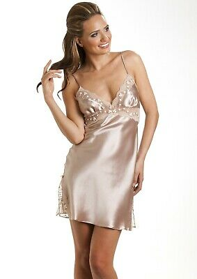 Sulis Silk Isabella pure silk lace slip chemise made in England