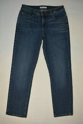 Lee PERFECT FIT Size 10 SHORT Just Below the Waist Womens STRETCH Blue Jeans