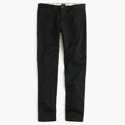 J.Crew 484 Slim-fit Pant in Stretch Chinos Black Size 31x30 New NWT