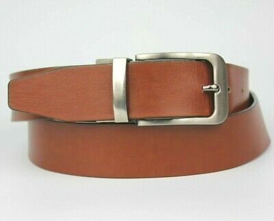 """Profuomo Brown Black Reversible Leather Belt Size 32/"""""""