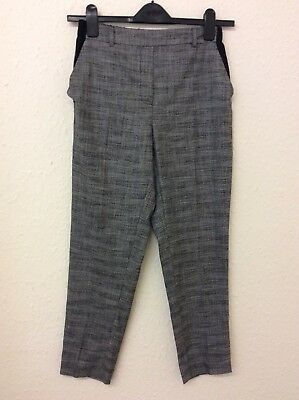 B681 River Island Women's Grey Trousers Size 8 Excellent Condition