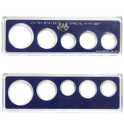 Empty Plastic Lens with Blue Insert From SMS Set Holds 5 Coins