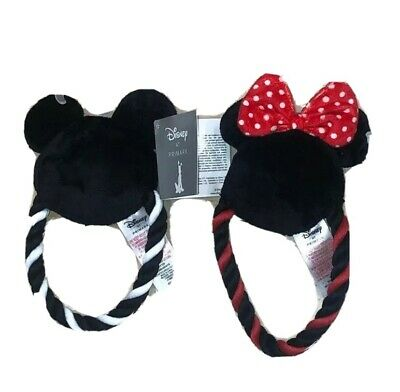 Disney Primark Minnie & mickey mouse dog animal pet toys PAIR limited edition