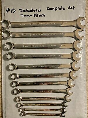 Rare 12 Piece 12 Point Metric Craftsman Industrial Combination Wrench Set Usa