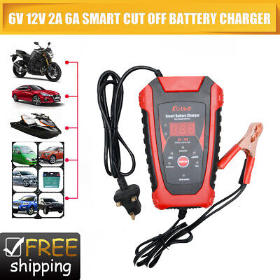 Car Motorhome Motorcycle Electric Pulse Repair Battery Charger 12V 6V Trickle UK