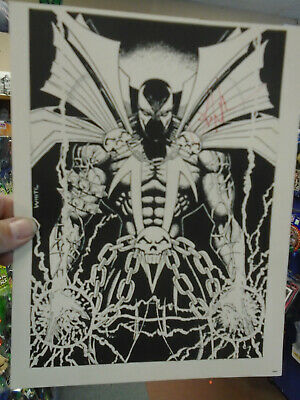 "Al Simmons Spawn Signed Art Print by Artist Les White 8 1/2"" x 11"""