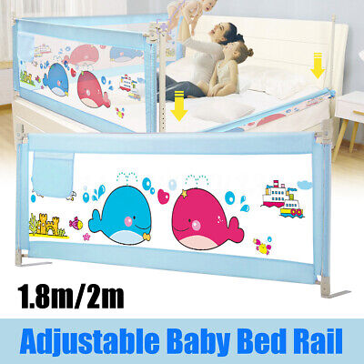 🔥 1.8M/2M Adjustment Safety Baby Bed Rail Cot Guard 12-Gear Lifting Vertical