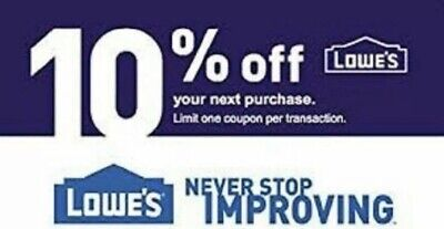 Lowes 10 Off