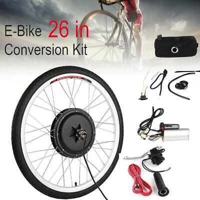 """26"""" Rear Front Wheel 36V 500W Electric Bicycle Ebike Conversion Kit Hub Motor"""