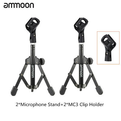 ammoon Tripod Desktop Tabletop Microphone Mic Stand W/Clip Holder Durable P3L3