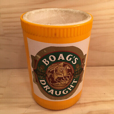 """BOAG'S DRAUGHT """"Yellow"""" Vintage Collectable Stubby Holder Drink Can Holder"""