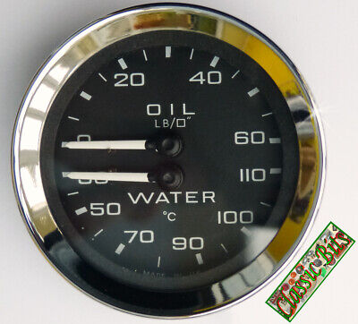 Genuine Smiths Lotus Elan Oil Pressure & Water Temperature Dual Gauge, GD1301/23