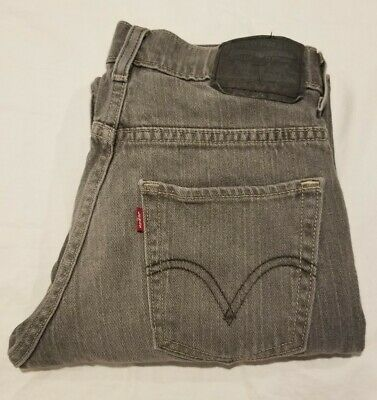 Boy's Size 12 26-26 1/2 LEVI'S 511 Youth Slim Skinny Jeans Red Tag Black Label