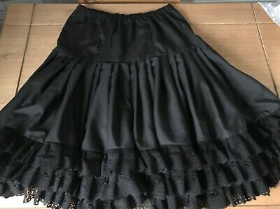 Black  cotton  petticoat edged with three rows of lace