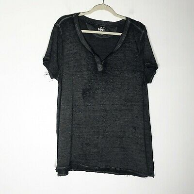 Calvin Klein Shirt Womens 2XL Black Gray Burnout Light Weight Sweatshirt