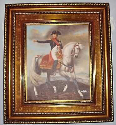 Gold Framed Oil Painting 7 inch Wide Frame.