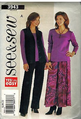 4638 Butterick SEWING Pattern Misses Coat Skirt Pants UNCUT Family Circle OOP FF