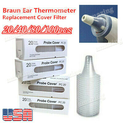 Braun Probe Covers Thermoscan Replacement Lens Ear Thermometer Filter Caps