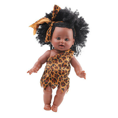 Realistic African American 10 inch Girl Doll Full Vinyl Silicone Premature Baby