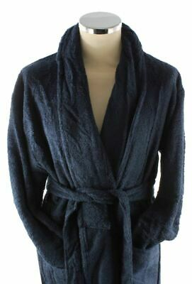 Bown of London Mens Terry Egyptian Cotton Dressing Gown - Navy