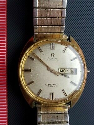 Omega Watch  Automatic Seamaster Cosmic Works! Crown Missing! One Piece Body