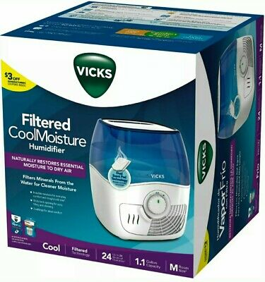 EQUATE COOL MIST Humidifier Filtered Moisture 1.1 Gal 24 hr