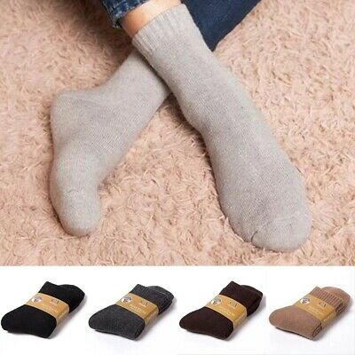 Men Wool Cashmere Comfort Thick Winter Warm Soft Outdoor Sports Long Solid Socks