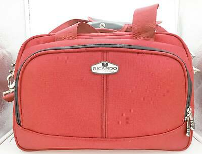 Ricardo Beverly Hills Luggage Carry-On Traveler Red Suit Case Bag Organizer