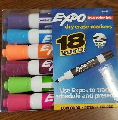 Expo Dry Erase Markers 18 Intense Colors Low Odor
