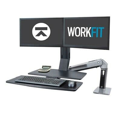 Ergotron WorkFit-A Dual Workstation with Worksurface