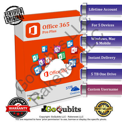 🔥 Office 365 Pro Plus Custom Account + 5TB One Drive 🔥 Windows Mobile 💻📟📱