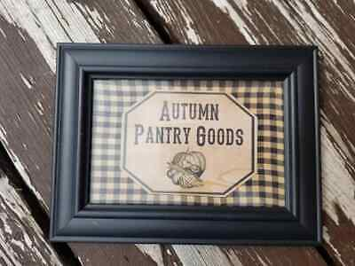 Framed AUTUMN PANTRY GOODS ~ Primitive Rustic Country Decor ~ Handmade