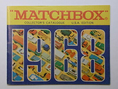 Matchbox Katalog 1968 Collectors Catalogue USA Edition 1968