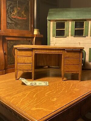 1900s Salesman Sample Oak Desk