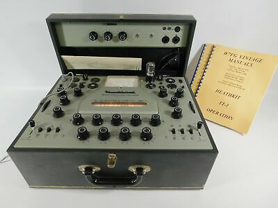 Heathkit TT-1 Vintage Tube Tester w/ TT-1-1 Adaptor (original, look/works well)