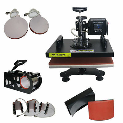 Heat Press Sublimation Transfer Machine 8 In1 T-shirt Mug Cup Hat Plate Clearanc