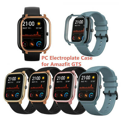 Electroplate PC Case Cover Frame Protector para reloj Xiaomi Huami Amazfit GTS