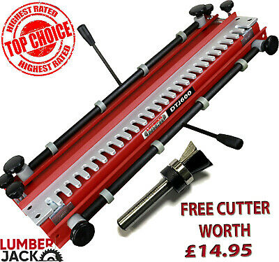 600mm Capacity Dovetail Jig with Comb Template FREE Router Cutter worth £12.95