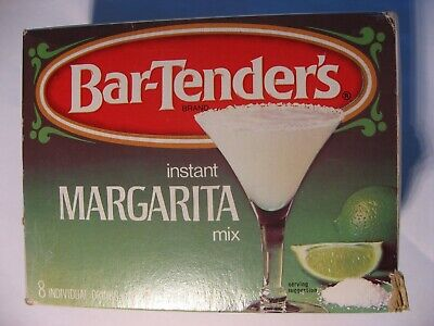 Bar-Tender's instant Margarita Mix, Brady Enterprises USA, vintage