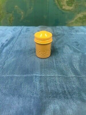 "Rare Vintage - Kodak 35Mm Film ""Yellow"" Metal Can Canister Container - Beautiful"