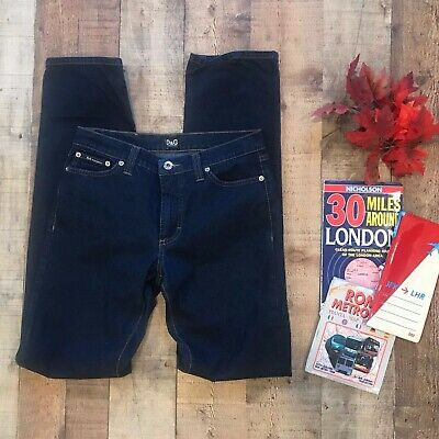 Dolce&Gabbana Dark Wash Jeans Made in Italy Straight Leg Tall IT Tierre Spa