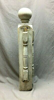 Antique Decorative  Porch Newel Post Shabby Vtg Chic 6x35 Staircase 217-20B