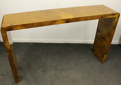 Antique Art Deco Style Console Hall Table In Walnut