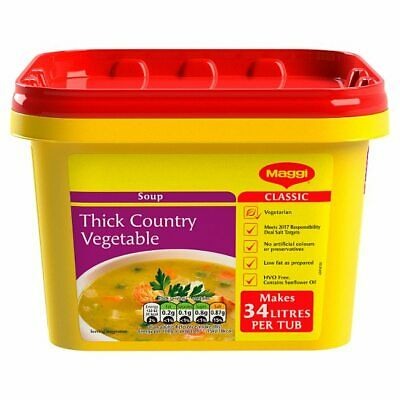 MAGGI Classic Thick Country Vegetable Soup 2kg Tub