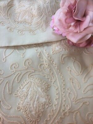STUNNING ANTIQUE 19thc CHILDS CHRISTENING GOWN CAPE FINE SILK EMBROIDERED DESIGN