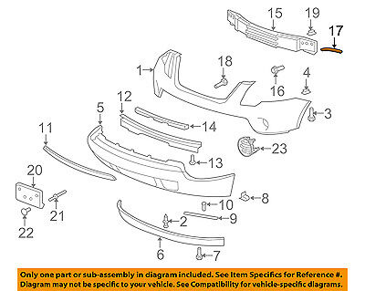 OE Replacement License Plate Bracket GMC ACADIA 2007-2012 Multiple Manufacturers GM1068132