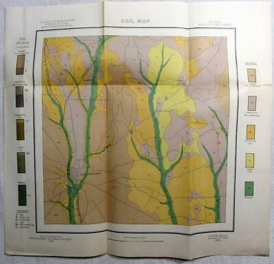 1903 TEXAS Map – NACOGDOCHES US Dept. of Agriculture Soil Map - Railroads