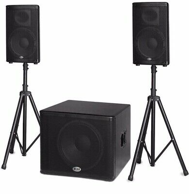 "B-52 Matrix 2000 1200-watt Active DJ PA Speaker System 18"" Subwoofer & 2x12"" Sat"