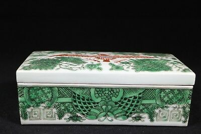 beautiful chinese export famille rose porcelain box