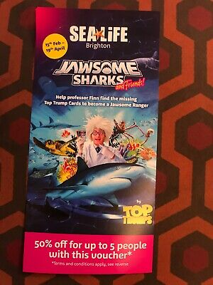 Sealife Centre Brighton 50% Off Entry Voucher up to 5 People Until 19 April 2020